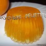 Апельсиновое желе из сока