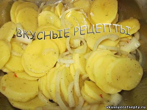 Картофель с грибами в духовке2
