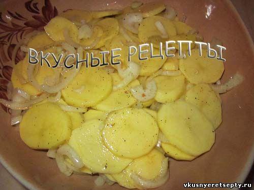 Картофель с грибами в духовке4