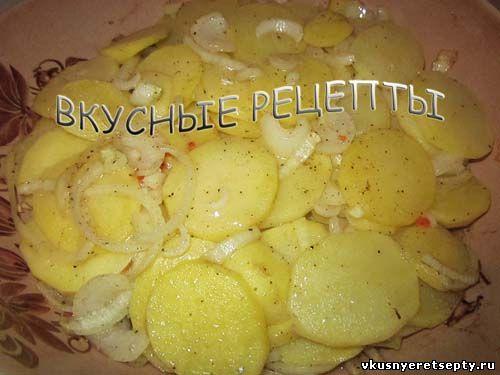 Картофель с грибами в духовке6