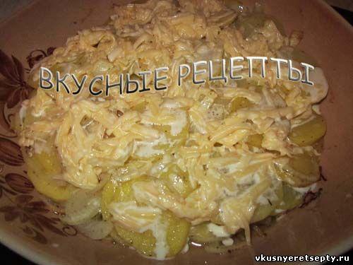 Картофель с грибами в духовке7