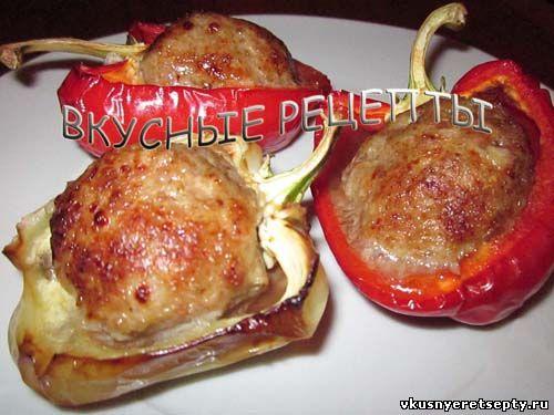 Перец с фаршем в духовке