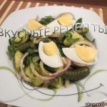 Салат из яиц и картофеля
