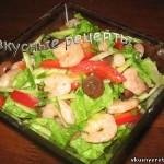Салат с креветками и огурцом