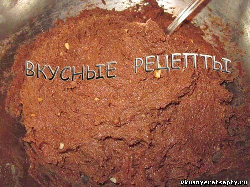 Шоколадное тесто для печенья