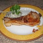 Свинина на косточке на сковороде