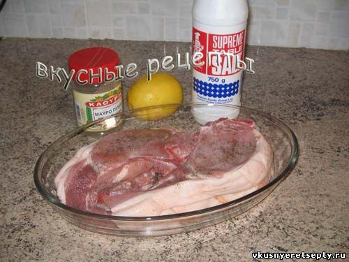 Свинина на косточке на сковороде1