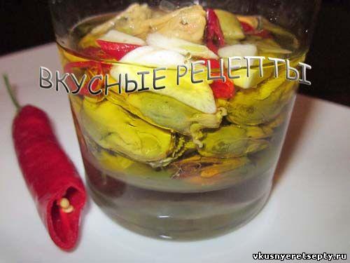 маринованные мидии рецепты приготовления