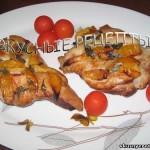 Курица запеченная кусочками