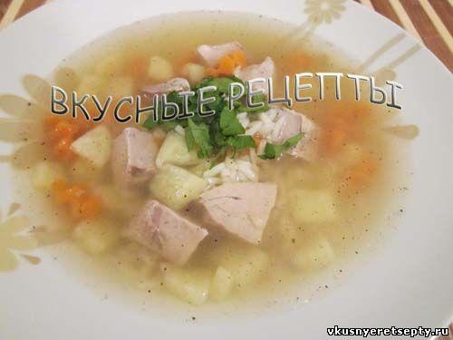 простой рецепт рисового супа без мяса
