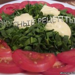 Шпинат с помидорами