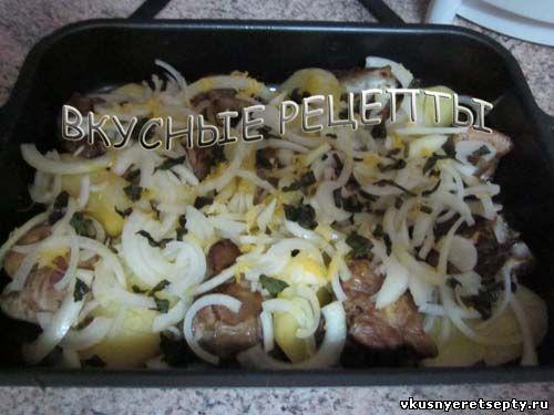Свинина с картофелем в духовке4