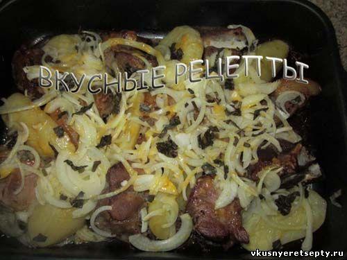Свинина с картофелем в духовке5
