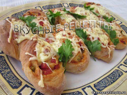 Красивая пицца Колосок