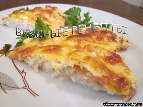 Рыба запеченная с сыром