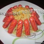 Тушеная капуста с сосисками
