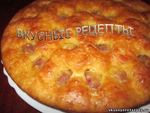 Пирог с фрикадельками1