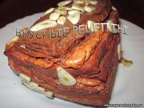 рулет из грудинки свиной вареный в луковой шелухе рецепт
