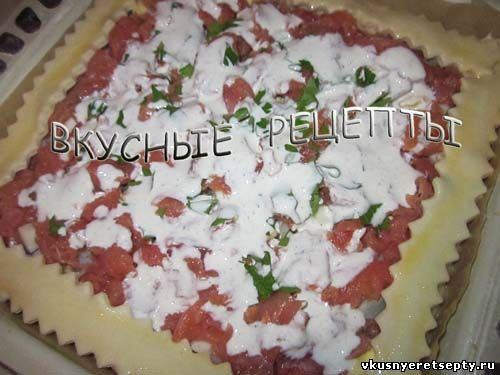 Пирог с красной рыбой4
