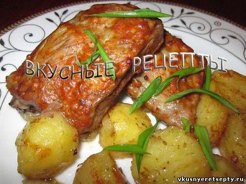Ребрышки с картошкой в духовке