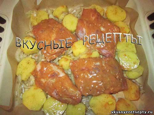 Ребрышки с картошкой в духовке2