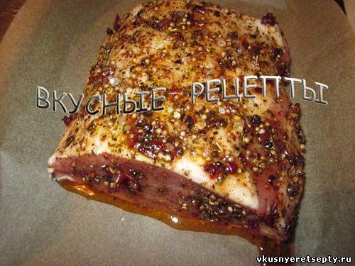 корейка свинины в фольге в духовке рецепт