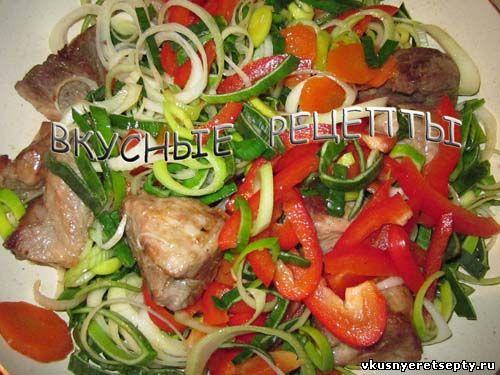 Жареное мясо с овощами3