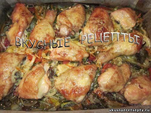 Курица с сыром в духовке6