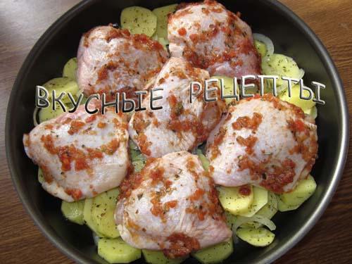 Куриные бедра с картошкой4