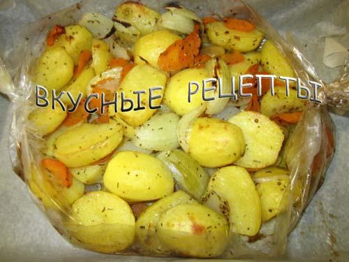 Картошка в рукаве в духовке5