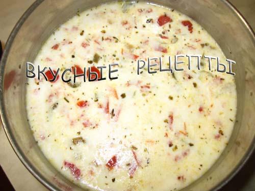 Суп из плавленных сырков3
