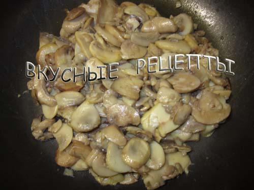 Мясо с грибами в духовке3