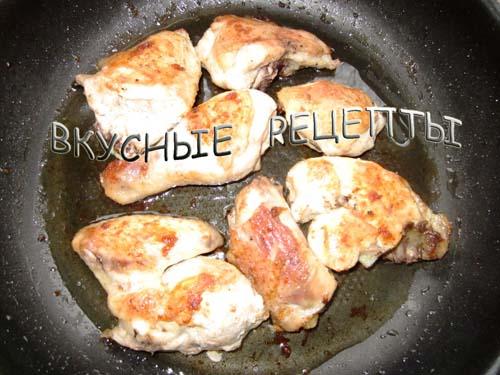 Жареная курица на сковороде3