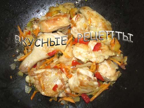 Тушеная картошка с курицей3
