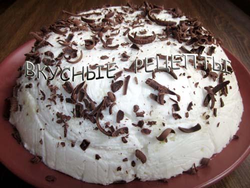 Торт с желатином и сметаной5