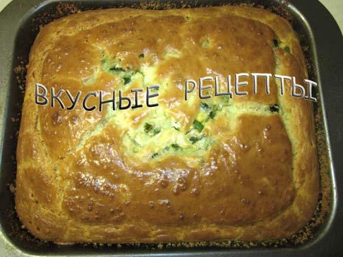 Заливной пирог с луком и яйцом5