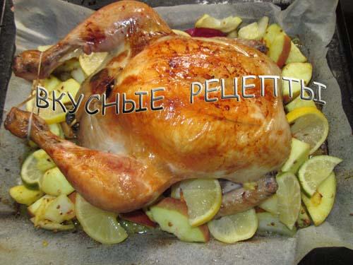 Курица с яблоками5