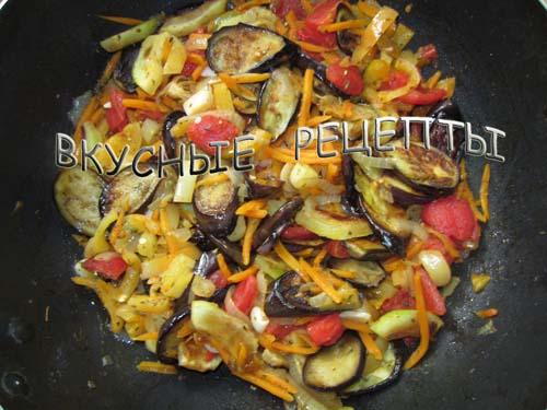 Овощное рагу с баклажанами5